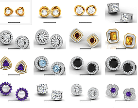 22 Studs Earrings 3dm renders details luxury