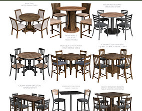 realtime Dinning table 3d model collection 10 pieces