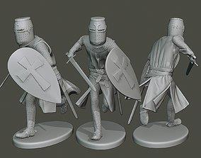 Knight Templar action2 T1 3D print model