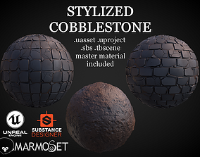 3D Stylized Cobblestone Material Pack