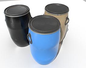 Plastic Barrel 2 3D asset