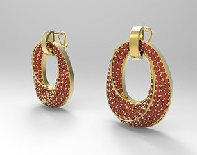 3D printable model Earring oval diamondds