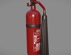 Lowpoly Extinguisher 3D model PBR