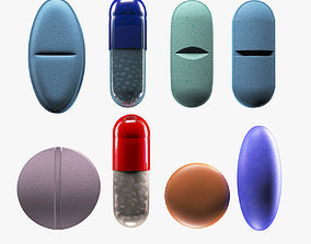 Detailed Pill Set 3D model