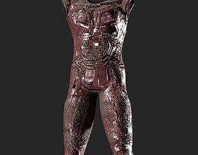 Armour suit damaged 3D asset