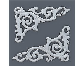 3D printable model Classic baroque onlay corner element