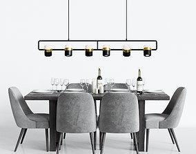 Modern Dinning Set 1 3D model