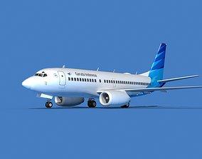Boeing 737 MAX 7 Garuda Indonesia 3D model