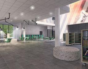 Public Hall Interior 01 3D asset