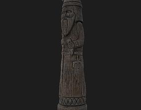 3D asset Velez Wooden Figurine