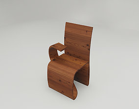Wavy chair with tablet 3D asset