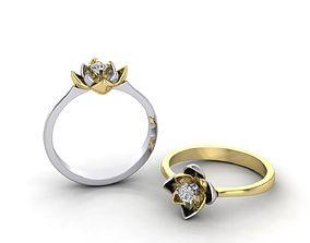 Engagement Ring Lotus 3D printable model