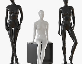 Abstract female mannequin woman 3D model