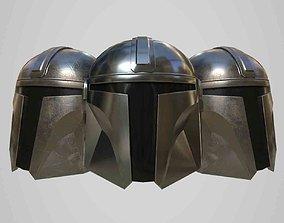 3D asset Mandalorian Helmet Low-poly game ready