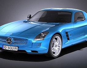 3D Mercedes SLS AMG Coupe Electric Drive 2015 VRAY