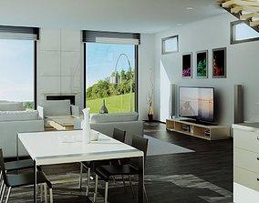 3D model house-interior Living room