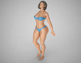 girl Lean Against Glass 2 3D print model