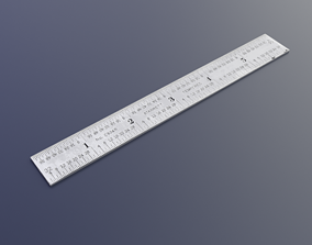 3D asset 6 Inch Steel Scale