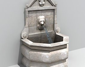 Fountain wall 3D model