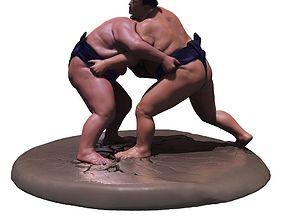Sumo Fight Scene 3D print model