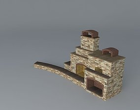 Fireplace and Pizza Oven 3D
