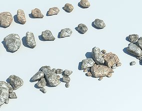 Stones Pack 3D model low-poly