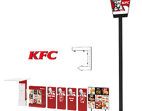 KFC outdoor equipment 3D model