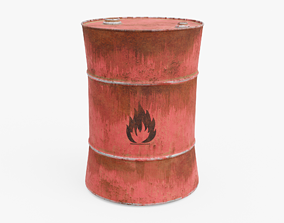 Oil Barrel 3D asset realtime PBR