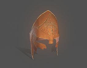 3D asset Greek Gorgon Helmet