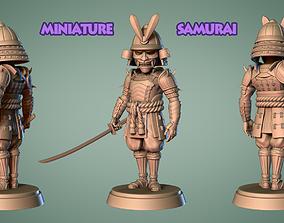 Samurai Miniature 2 -Mini Army -3D print model