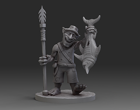 Goblin Fisherman miniature 3D printable model