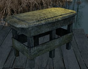 Old Table 3D asset low-poly