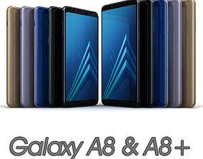 Samsung Galaxy A8 and A8 Plus 2018 All 3D asset
