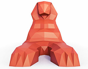 3D model The Great Sphinx Low Poly