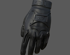 Gloves Sci-fi military fantasy combat soldier 3D asset 1