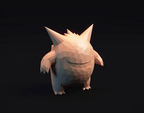 Gengar - Stylized Pokemon LowPoly Art 3D printable model