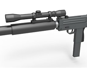 Submachine gun MAC-10 from the movie Escape from New 3D 1