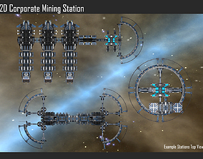 2D Corporate Mining Station 3D