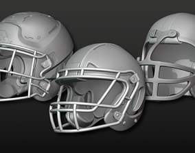 Printable Football Helmets 3D model
