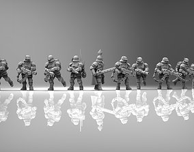 3D print model Feudal Guard special weapons squad