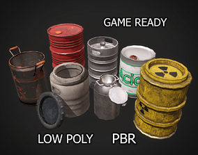 Barrel Pack 3D asset