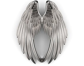 20mm Double Wings Pendant 3D printable model