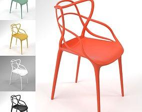Kartell Masters Chair Blender Cycles 3D model