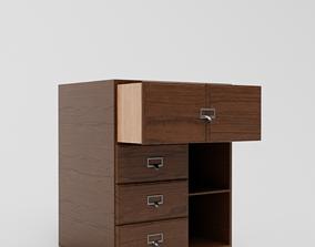 3D classic bedside cabinet