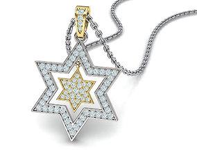 3D printable model Diamond Jewish Star pendant Star of 1