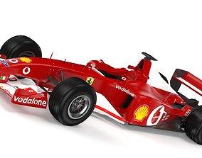 3D model F1 Ferrari F2 2002