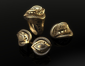 Mini set 03 jewellery design fashion gold 3D print model 2