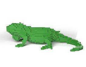 Iguana Minecraft Voxel 3D asset