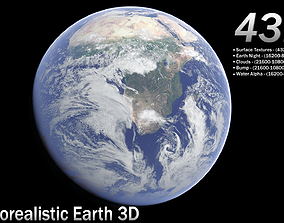 Realistic Earth 3D Model atmosphere