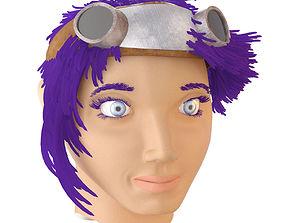 3D asset The head of a girl